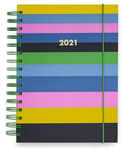 Kate Spade New York Large 2021 Planner Weekly & Monthly, 12 Month Hardcover Personal Diary Dated Jan 2021 - Dec 2021 with Stickers, Pocket, Tab Dividers, Notes/Holiday Pages, Enchanted Stripe
