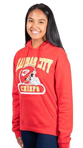 Ultra Game NFL Kansas City Chiefs Womenss Fleece Hoodie Sweatshirt, Team Color, Medium
