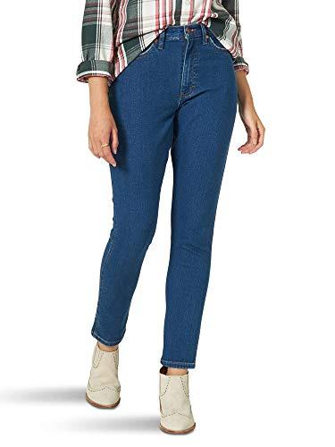 Wrangler Women's Heritage Slim Straight Jean Jeans, Blue Jay, 32W x 27L para Mujer