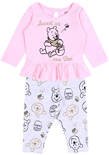 Ensemble Rose et Gris Winnie l'ourson Disney 18-24 Mois