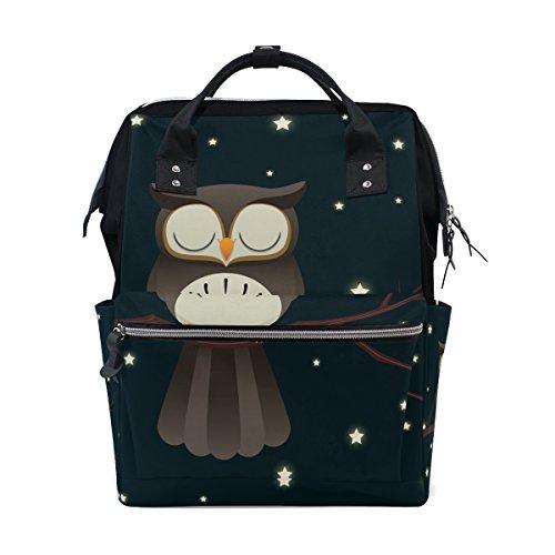 tizorax Sleepy Eule Windel Rucksack Große Kapazität Baby-Bag Multifunktions-Wickeltaschen Mom Rucksack Reisen für Baby Care