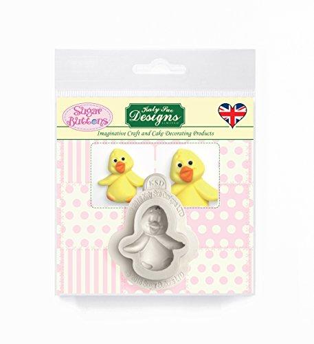 Baby Chick siliconen mal voor taart decoratie, ambachten, cupcakes, suikerwerk, snoepjes, kaarten maken en klei, voedselveilig goedgekeurd, gemaakt in het Verenigd Koninkrijk, suiker knoppen door Kathryn Sturrock