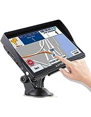 LAYDRAN Sistema de navegación GPS para camión, 7 pulgadas HD portátil camión SAT NAV GPS Satélite dispositivo con Speedcam pantalla táctil de guía de voz y 2020 EU 46 países