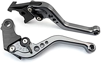 Keewor CNC Adjustable Short Brake Clutch Levers for Ducati ST2 1998-2003 ST4/S/ABS 1999-2002 748 UP TO 1998 916/916SPS UP TO 1998 900SS 1991-1997 MONSTER M750/M750IE 1994-2002 Gray