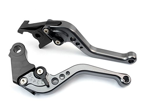 Short Brake and Clutch Levers for Yamaha YZF R6 1999-2004,R1 2002-2003,FZ1 FAZER 2001-2005,R6S US Version 2006-2009,R6S CANADA Version 2007-2009-Black