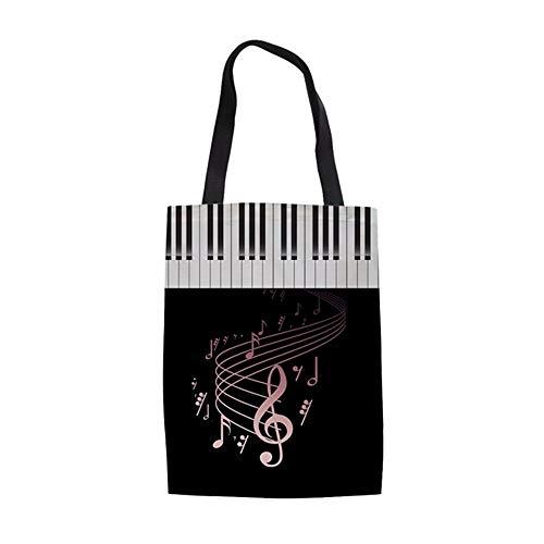 ZXXFR Tote Bag Mode Vrouw Herbruikbare Katoen Winkelen Tassen Muziek Opmerkingen/Piano Toetsenbord Gedrukt Vrouwelijke Shopper Tassen Grote Eco Tas