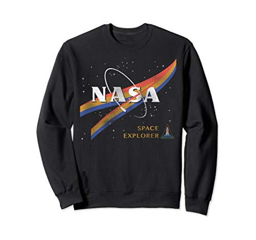 NASA Retro Chevron Space Shuttle Logo Graphic Sweatshirt