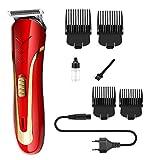 Cortadora de cabello Cortadora de cabello inalámbrica profesional y cortadora de cabello de nariz eléctrica Cortadora de cabello para hombres Cortadora de barba Máquina de limpieza de afeitado - Rojo