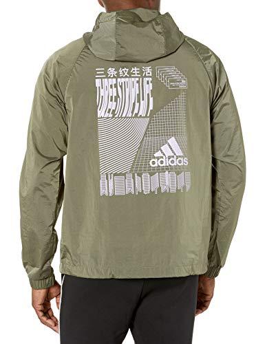 adidas Herren Anorak Wind.rdy Windbreaker, Herren, Jacke, Anorak Wind.rdy, Legacy Green, Large