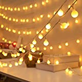Globe Fairy Lights, RECUTMS 20FT 40Pcs LED Ball Blub Fairy Light,USB or Battery Powered String Lights,Home Decoration Light for Wedding Birthday Holiday Party Bedroom Indoor& Outdoor(Warm White)