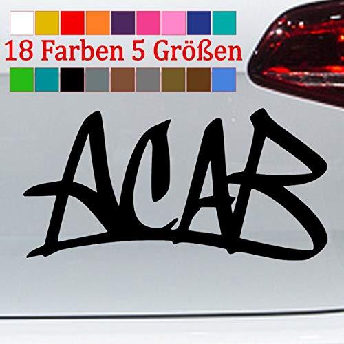 ACAB Aufkleber 1312 Sticker Cops Graffiti Punk Skin Shocker 18 Farben 5 Größen