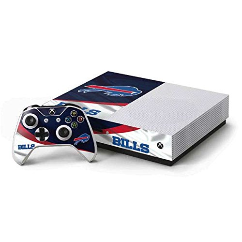 Skinit Decal Gaming Skin Compatible with Xbox One S Console and Controller Bundle - Officially Licensed NFL Buffalo Bills Design