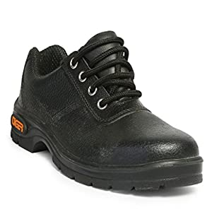 Tiger Men's Low Ankle Lorex Steel Toe Safety Shoes (Size 6 UK, Black, Leather)