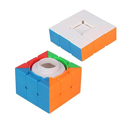 LinGO Cubo Mágico Creatividad Multifunción Speed Cube Portátil Plástico ABS Puzzles Cube Propuesta De Matrimonio Regalo Sorpresa con Hermoso Paquete para Amantes Y Amigos,Blanco