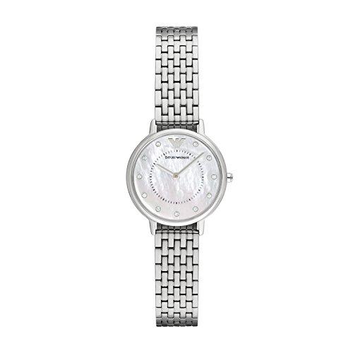Emporio Armani Damen Analog Quarz Uhr mit Edelstahl Armband AR2511