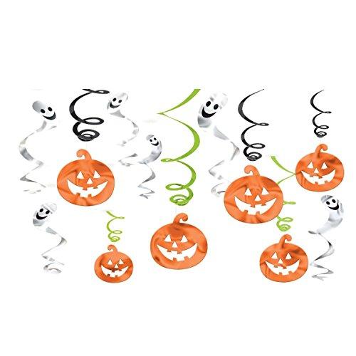 12 Guirlande Verticle en Spiral d'Halloween