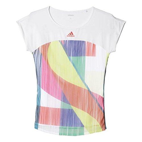 adidas Adizero Camiseta Mujer Camiseta de Tenis, Modelo 2016 Blanco/Rojo Talla:Small