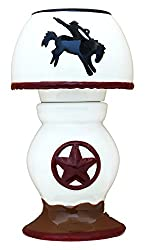 Tea-light cowboy candle holder with shade
