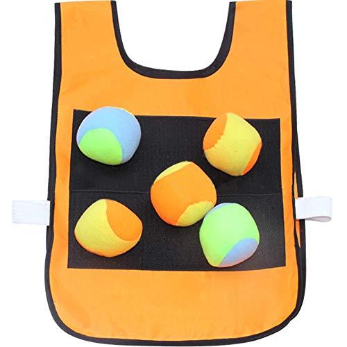 Umora キャッチボール ダーツボール 両面用 ストレス解消 屋内 屋外 スポーツ アウトドア ボール5個付き オレンジ