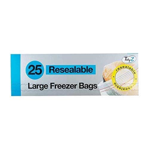 Tidyz 25 Slide Zip Large Freezer Bags
