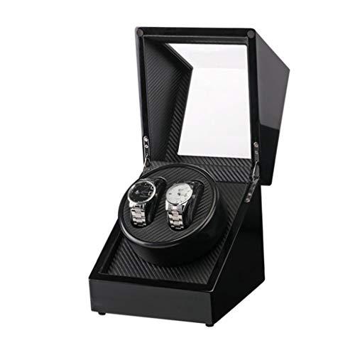 NZDY Remontoirs de montre Boîtes de remontoir de montre Peinture noire Tête unique 2 Remontage de montre automatique Berceau de moteur Boîte de moteur de rotation de moteur Boîte de montre Remontoir