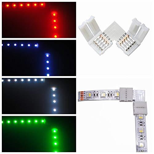 10pcs 5pin L Form LED Verbindungsstück Eckverbinder für 12mm RGBWW LED Streifen Lichter LED Band Lichter Adapter