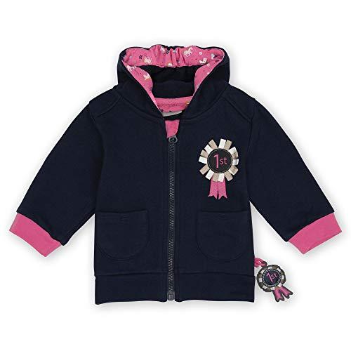 Sigikid Baby-Mädchen Sweatjacke mit Kapuze aus Bio-Baumwolle für Kinder Sudadera para bebé, Azul/pony, 12 meses para Bebés