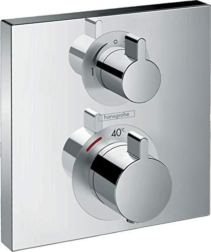 hansgrohe Thermostat Unterputz Ecostat Square Fertigset 2 Verbraucher Chrom