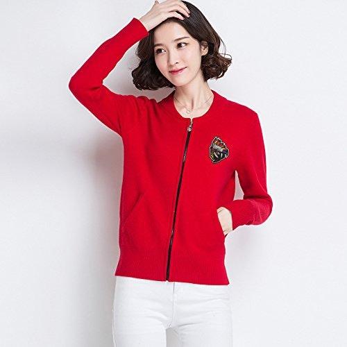 Xuanku Tricotée Shirt De Les Les dames Sauvages Tricotés Chemises Courtes, à Manches Longues