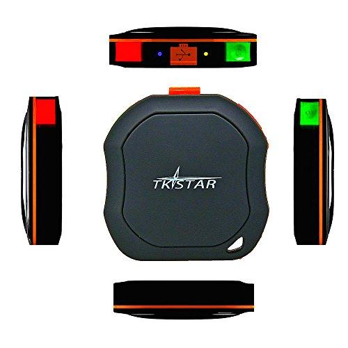 TKstar mini portatile GPS Tracker, animali domestici cane gatto veicoli bambini aeltere Mini GPS outdoor Navigation SOS impermeabile in tempo reale con App Gratuita per Android e iOS TK1000