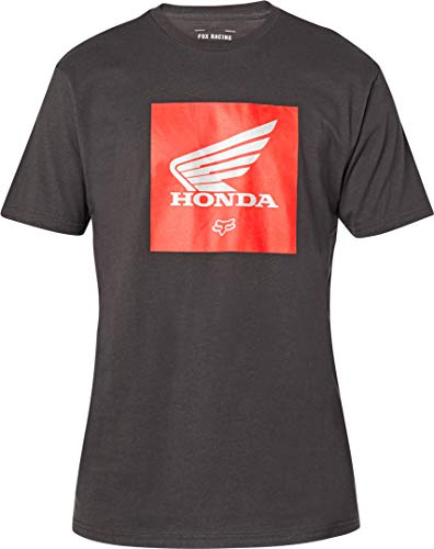 Fox Racing Men's Honda Premium Update Shirts Camiseta, Negro Vintage, S para...