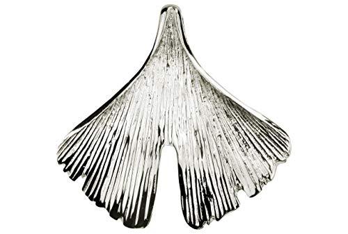 SILBERMOOS Anhänger Ginkgo Ginkgoblatt Blatt glänzend Sterling Silber 925