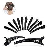 12 Pièces Multi-Taille Plastique Dents Crocodile Dents Nœuds Pinces À Cheveux,DIY Accessoires Épingles à cheveux pour Femmes, Filles