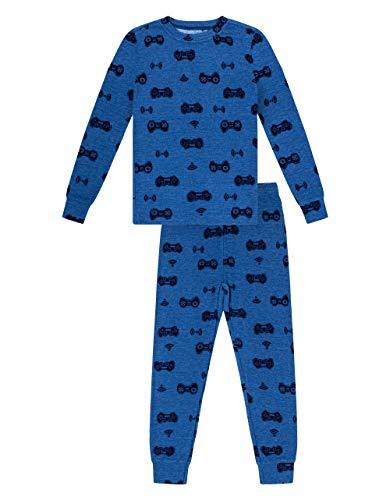 Petit Lem Boy 2Pc Pj Set: L/S Top and Pant Knit, 610 Dusty Blue, 8
