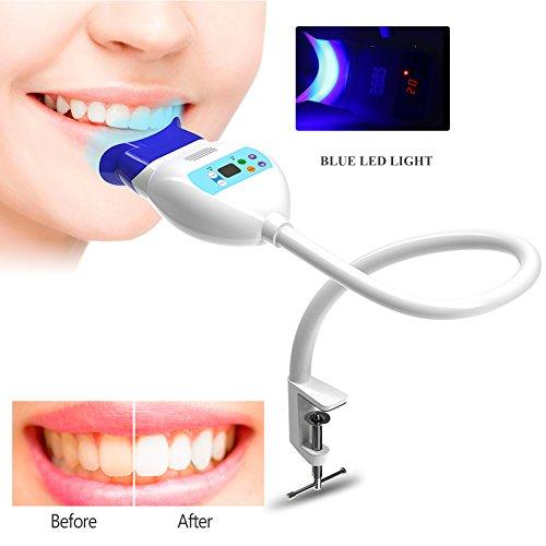 Teeth Whitening Bleach Lamp, Zahnweiss Gerät Professionelle Zahnaufhellung Einfache und Schnelle Bleaching Methode Bleaching Zähne Zu Hause (Weiß)