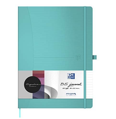1 x Oxford Notizbuch Signature B5 Tablet-Format kariert weißes Papier 80 Blatt 90 g/m² Hardcover in türkis 1 Stück