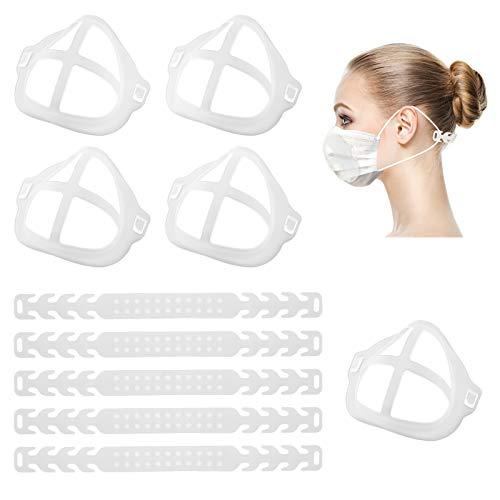 TOYMIS 5 Teilige 3D-Halterungen und 5 Teilige Riemenverlängerungen zum Tragen von Masken, Innerer...
