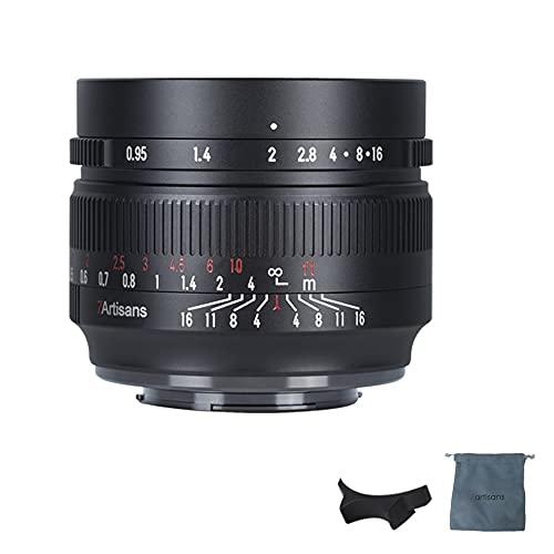 7artisans APS-C Objektiv, 50 mm, F0,95, große Blende, manueller Fokus, für spiegellose Fuji FX-Mount Kameras wie X-A1/X-A2/X-A3/X-A5/X-A7/X-A10/X-A20