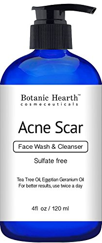 Botanic Hearth Acne Scar Wash Sulfate Free Reduces the Appearance of Scars and Hyperpigmentation for Face and Body 4 fl oz