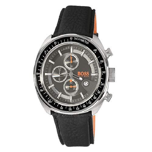 Hugo Boss 1512377 - Reloj analógico de caballero de cuarzo con correa de piel negra