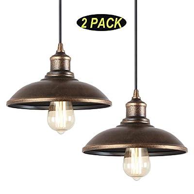 Giluta Rustic Pendant Light Industrial Barn Pendant Lighting, Vintage Style Kitchen Farmhouse Warehouse Edison Hanging Light Fixture