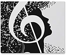 Jnseff Wall Art Painting Woman Portrait of Black White Music Note Prints On Canvas The Picture Landscape Pictures Oil for Home Modern Decoration Print Decor for Living Room