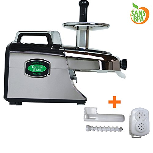 Tribest – Extractor de zumo – GREENSTAR Elite cromado – Pack con ...