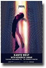 Kanye West Poster Concert Promo 11 x 17 inches Yeezus Kendrick Lamar December Arizona
