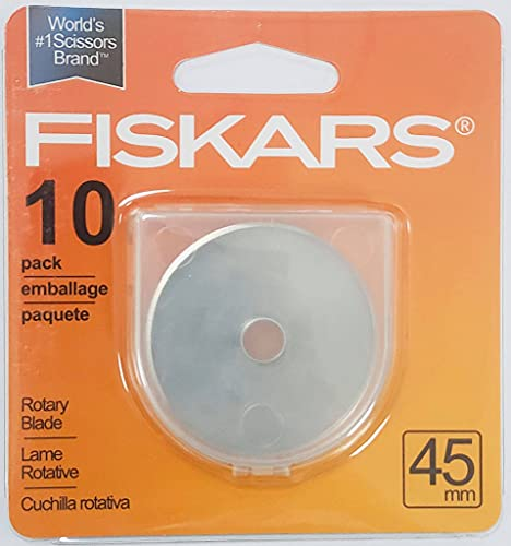 Rotary Cutter Blades 45mm 10 Pack Fits Fiskars, Rotary Cutter Replacement Blades, 45mm,10 Pack…