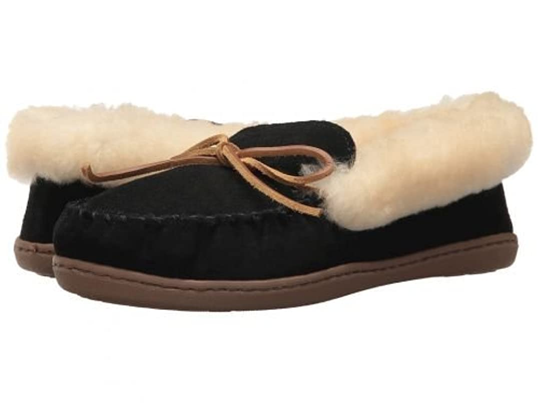 比喩賢明な資格MINNETONKA(ミネトンカ) レディース 女性用 シューズ 靴 スリッパ Alpine Sheepskin Moc - Black [並行輸入品]