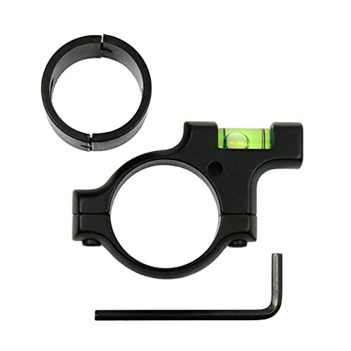 """West Lake Precision Scope Leveling Kit, Includes 30mm Smooth Alloy Scope Bubble Level Indicator (Anti-Cant) and 1"""" Ring Reducer, for Precision Shooting, Competition and Hunting"""