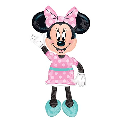 Anagram 34331 Minnie Airwalkers - Pink Dress Foil Mylar Party Balloon, 54, Multicolor, Pack of 1,10116417