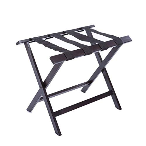 Best Review Of DJSMxlj Luggage Rack,Luggage Rack H Foldable Luggage Rack Made of Solid Wood for Hote...