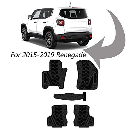 kaungka Heavy Rubber Car Front Floor Mats Compatible with 2015-2019 Jeep...
